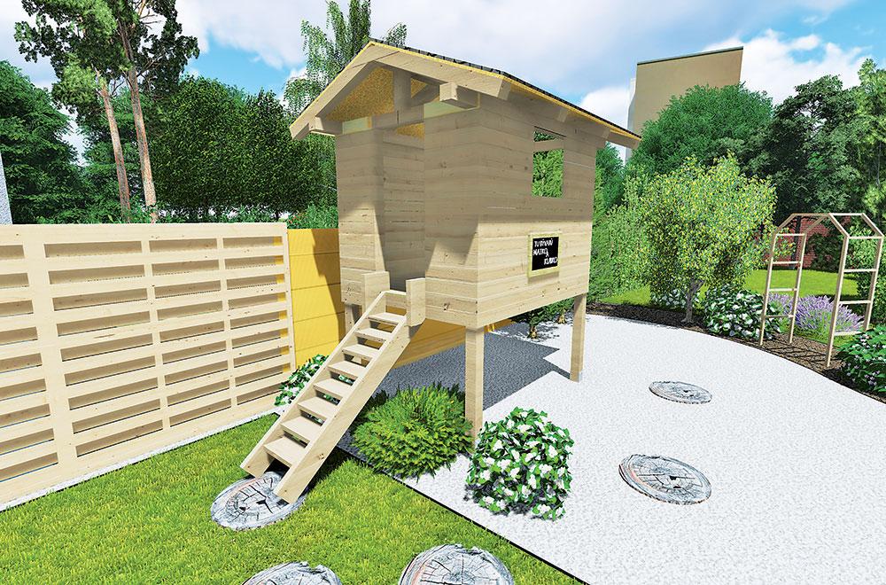 Staviame záhradný domček pre deti