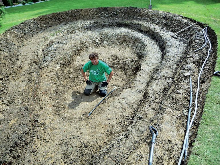 Výstavba jazierka