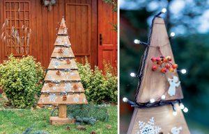 Vianočná výzdoba v záhrade: Vyrábame stromček z paliet