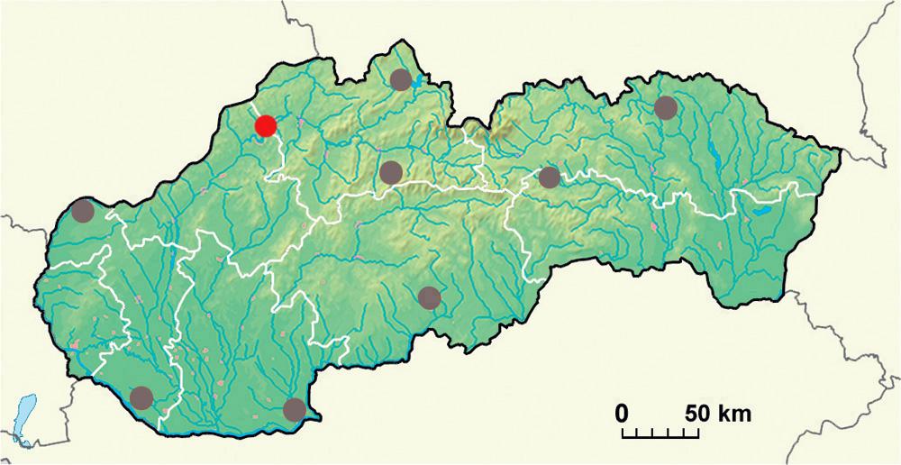 Mapa - žilinský región