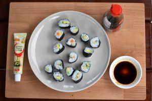 Sushi na tanieri