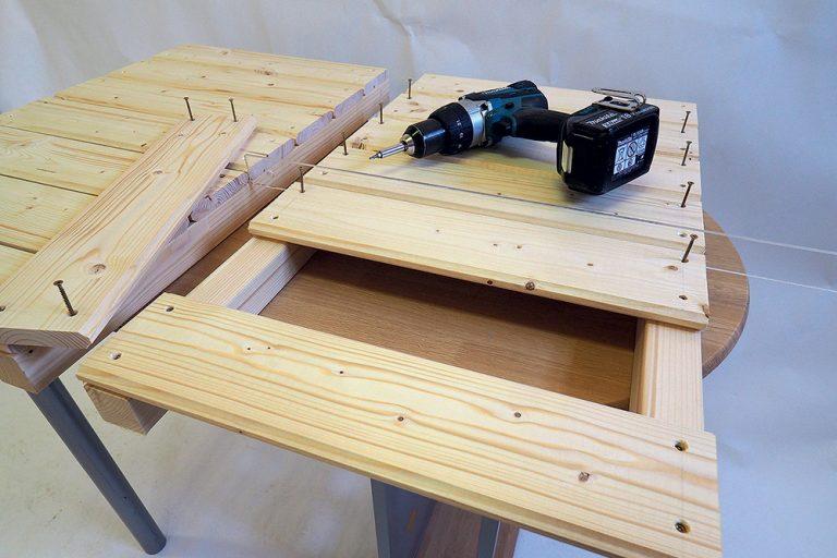 Vyrábanie bočných stien stolíka