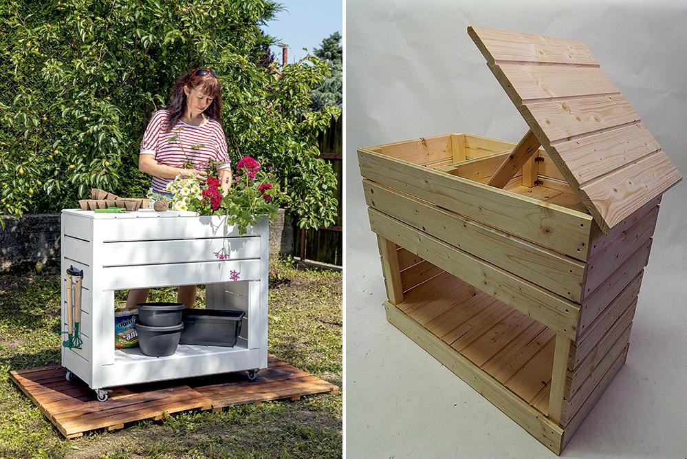 Multifunkčný záhradný stolík