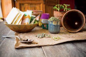 Semienka rastlín na stole