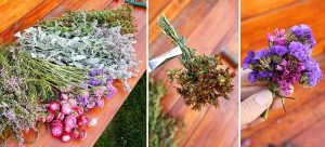 Kvety pripravené na výrobu venca