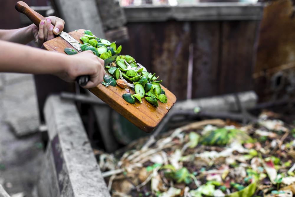 Kompost v záhrade