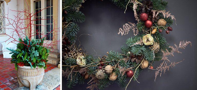 Vianočná dekorácia s konárikmi