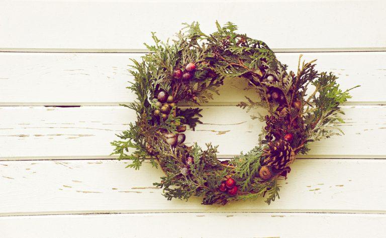 Vianočný veniec z tuje