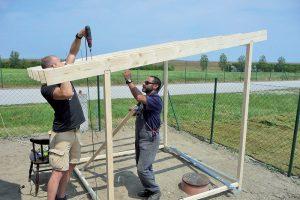 Stavba záhradného domčeka - rám