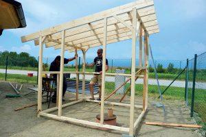 Stavba záhradného domčeka - spevnenie