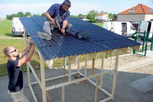 Stavba záhradného domčeka - strecha