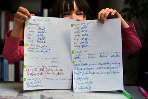 Pracovný list zameraný na slovenčinu