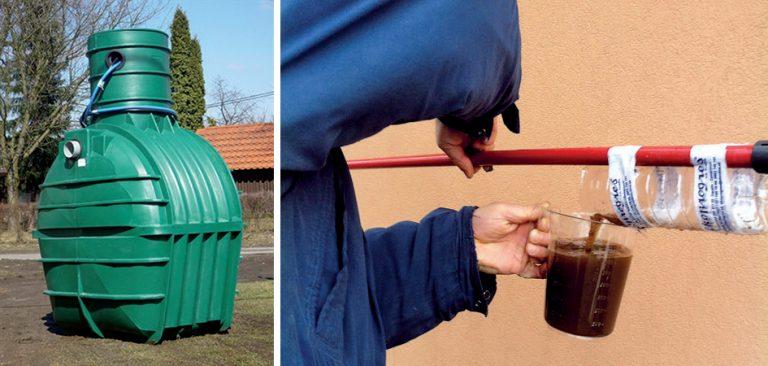 Domová čistiareň odpadových vôd - meranie kalu