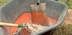 Miešanie betónu na obrubník