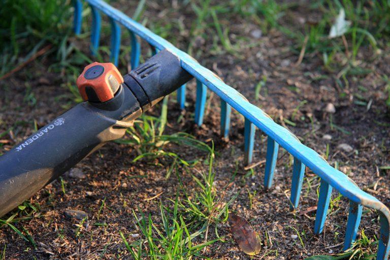 Hrabanie pôdy na výsev trávnika