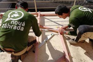Výstavba pergolového oblúka