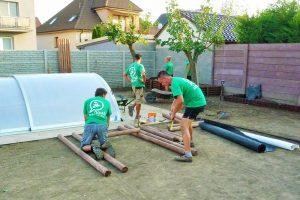 Výroba vertikálnej zelenej steny