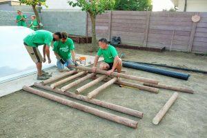 Výstavba zelenej vertikálnej steny