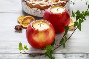 Svietnik z jablka