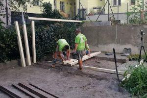 Výstavba terasy so zástenou