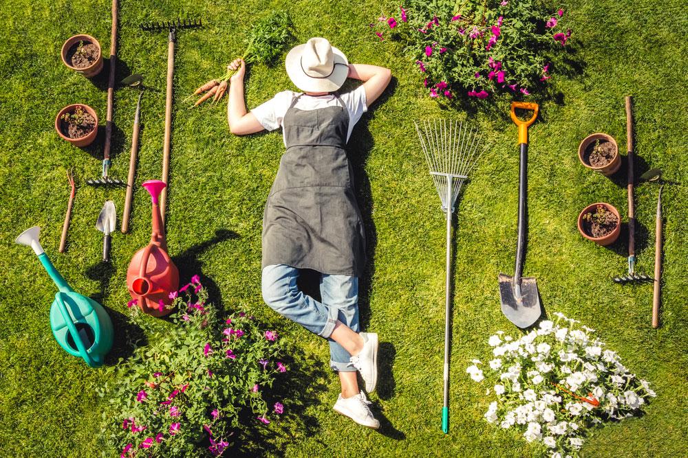 Oddych v záhrade