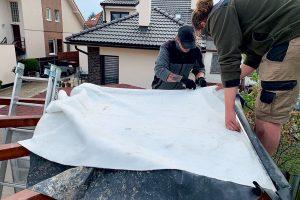 Stavba zelenej strechy - netkaná textília