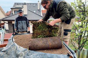 Zelená strecha - uloženie rozchodníkového koberca