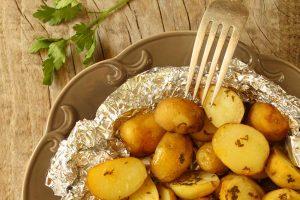 Pečené mladé zemiaky